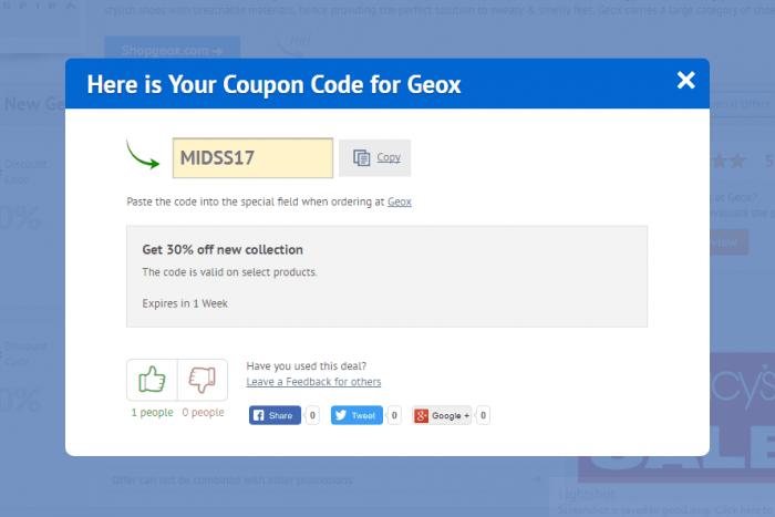 comerciante Dedicación vertical  Geox Coupon Code 2021   50% OFF   DiscountReactor