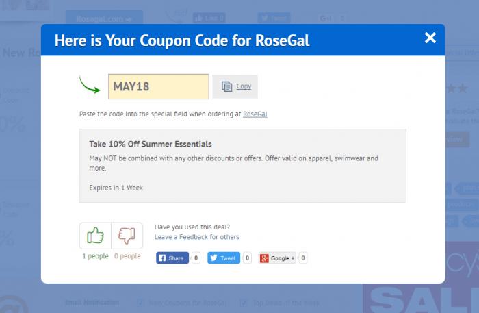 RoseGal Coupon Code 2021 | Up to $110 OFF | DiscountReactor